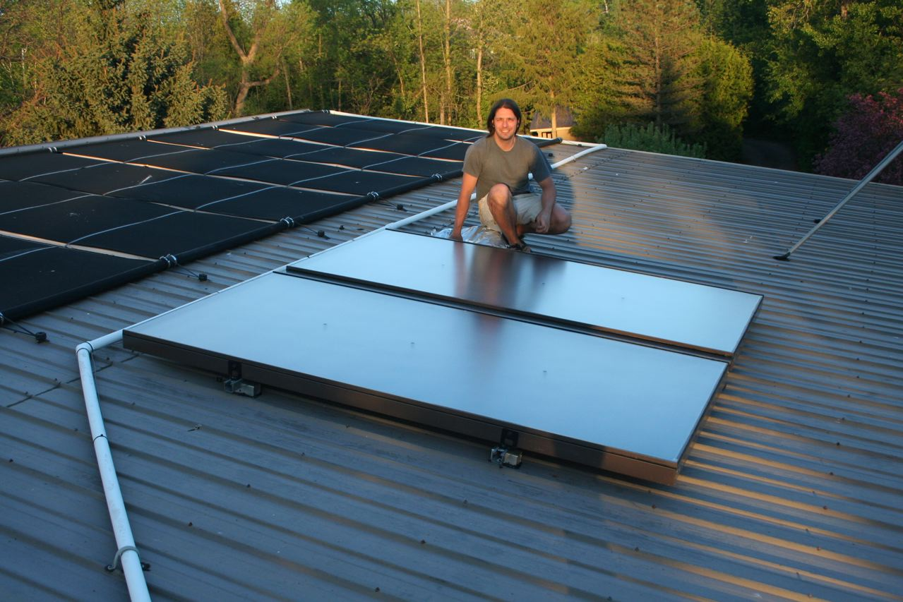 5.7m^2 Solar Thermal Preheat, Residential Installation