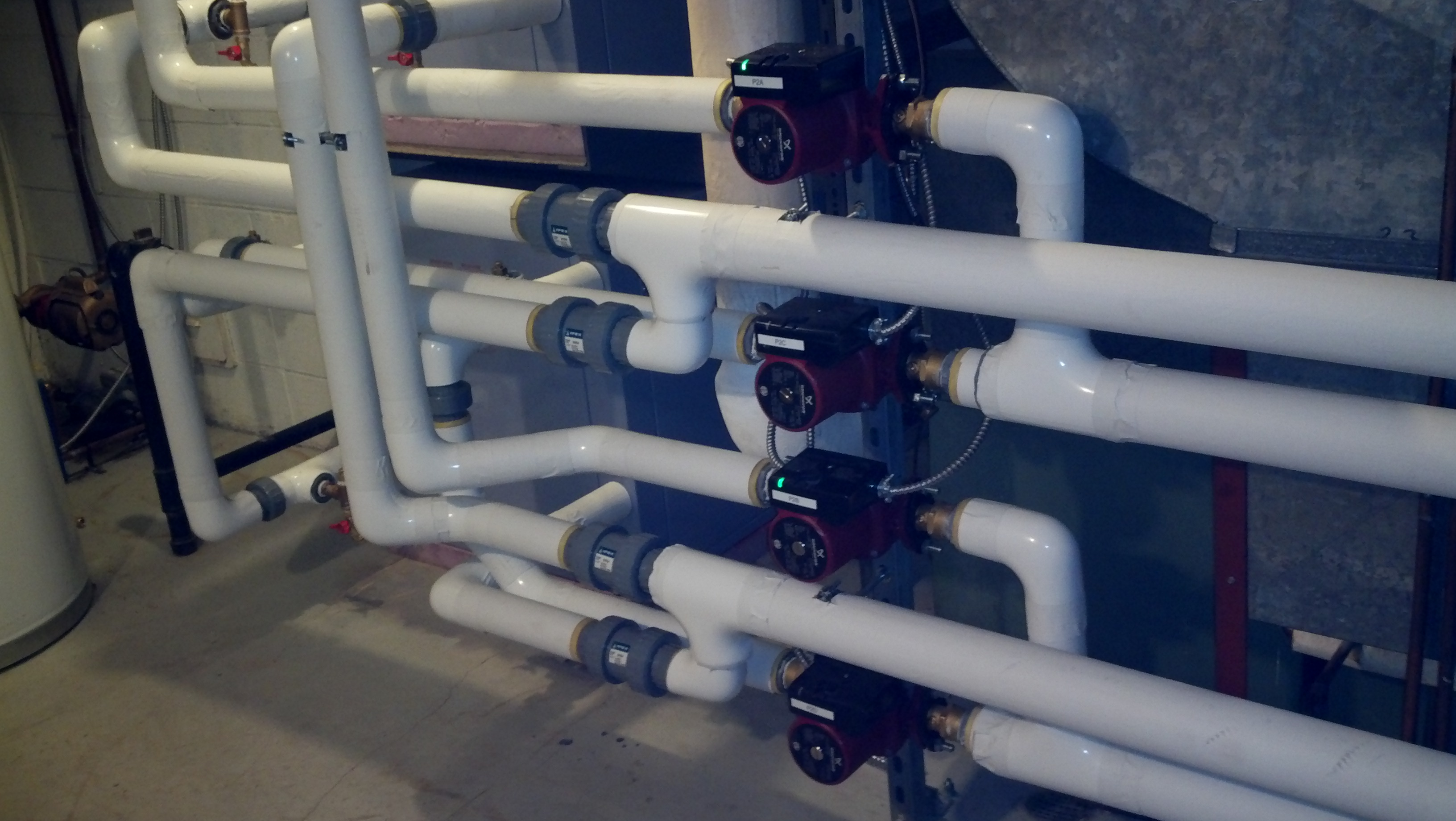 Commercial 3 Phase Geothermal Heat Pump Installation