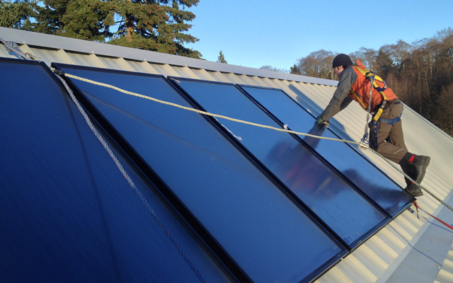Solar Hot Water Solar Thermal Vancouver BC Commercial Residential Incentives